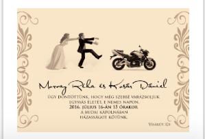 ötletes esküvői meghívó